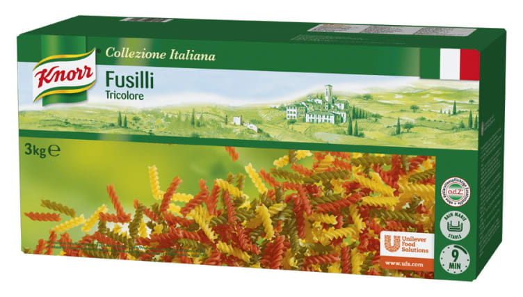 Bilde av Fusilli Tricolore pasta 3kg Knorr