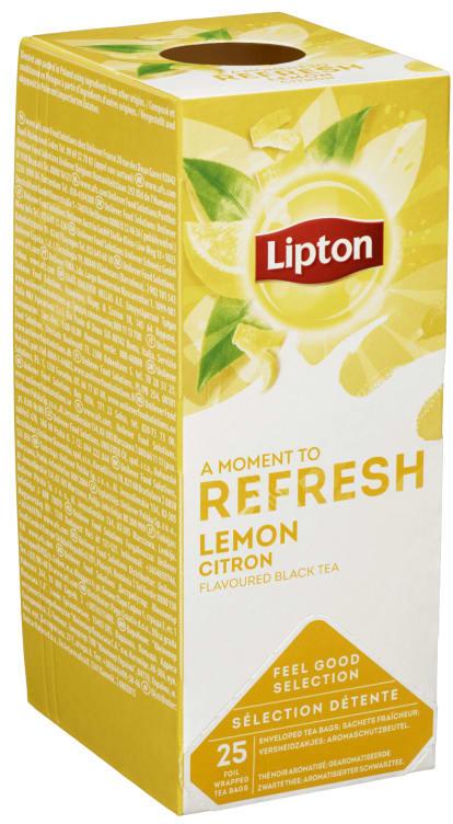 Bilde nr. 1 av 5 - Lemon (sitron) te 25ps Lipton