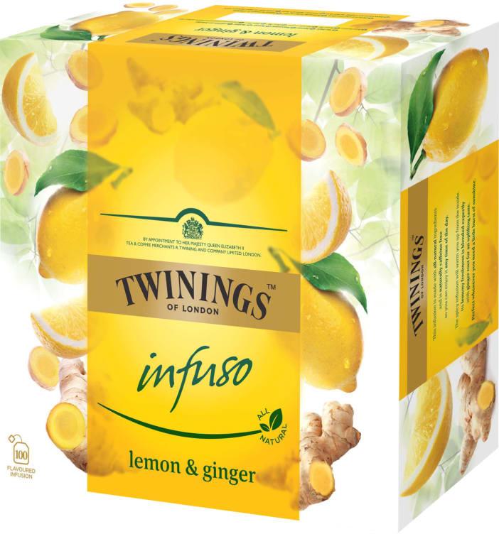 Bilde nr. 1 av 2 - INFUSO GINGER&LEMON 100POS TWININGS