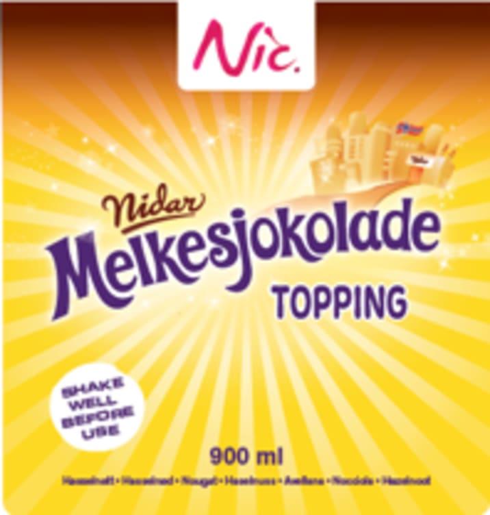 Bilde nr. 1 av 2 - MELKESJOKOLADE TOPPING 0,9L NIC