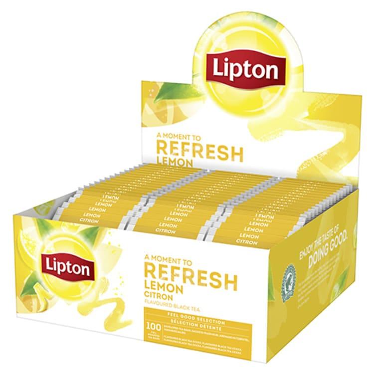 Bilde nr. 1 av 5 - Lemon (sitron) te 100ps Lipton